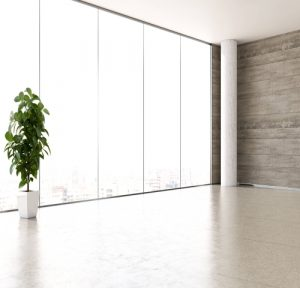 contemporary office with light coloured floor tiles in Broxburn